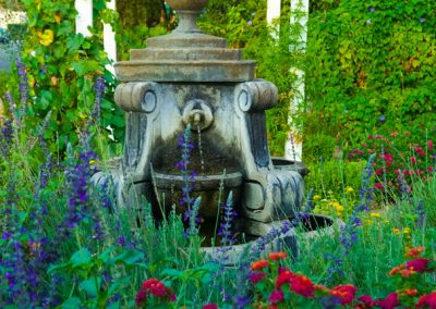 Fountain in Ojai, CA/Lavender Inn, bed and breakfast""