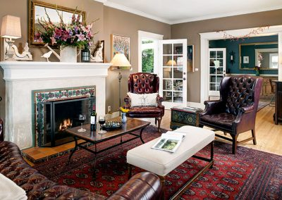 living room in Ojai, CA/Lavender Inn, bed and breakfast