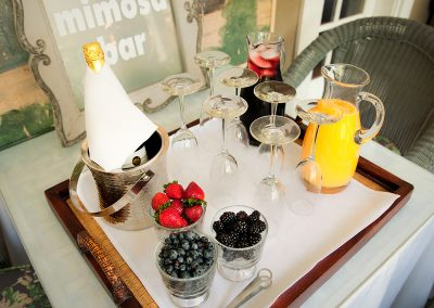 Mismosa Bar set at Ojai, CA/Lavender Inn, bed and breakfast""