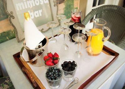 "Mismosa Bar set at Ojai, CA/Lavender Inn, bed and breakfast"""