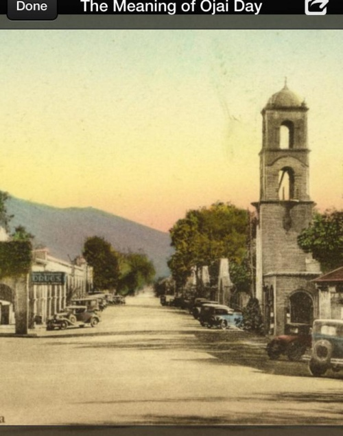 History pic at Ojai, CA/Lavender Inn, bed and breakfast