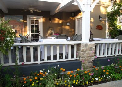 "Veranda view in Ojai, CA/Lavender Inn, bed and breakfast"""